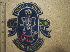 13th Bomb Squadron The Devil's Own Grim Reapers USAF Air Forces Nam War | eBay