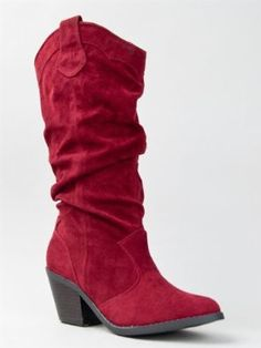 4589e9636ed Amazon.com  Qupid MUSE-01 Western Cowboy Inspired Slouchy Mid Calf Knee  High Stacked Heel Boot  Shoes