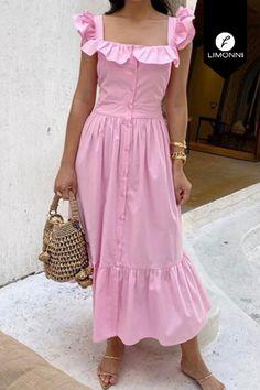 Casual Dresses, Fashion Dresses, Girls Dresses, Summer Dresses, Cotton Long Dress, Blouse Dress, Look Fashion, Dress Patterns, New Dress
