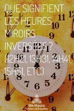 De nombreuses fois, nous regardons l'heure et nous sommes surpris parce que l'horloge affiche des horaires curieux.