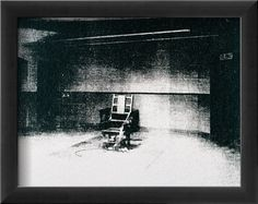 Andy Warhol 1928 - 1987 LITTLE ELECTRIC CHAIR signed and dated 64 on the overlap acrylic and silkscreen ink on canvas by 21 by 27 in. Executed in Andy Warhol Prints, James Rosenquist, Electric Chair, Claes Oldenburg, Prince, Jasper Johns, Arte Pop, Modern Art Prints, Cool Posters
