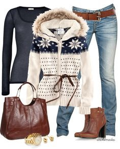 The perfect outfit for a snow day. #winter #weather #style