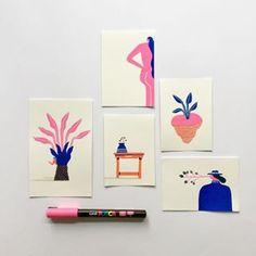 Illustration Artists, Botanical Illustration, Illustration Styles, Pen Art, Marker Art, Sketchbook Designer, Art Sketchbook, Posca Art, Passion Project