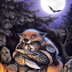 owl alchemist, an art print by Vladimir Arzevitin - INPRNT