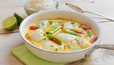 Bacalao fresco al curry Cod Recipes, Fish Recipes, Seafood Recipes, Dinner Recipes, Healthy Recipes, Pasta Al Curry, Salsa Curry, Fresco, Norwegian Food