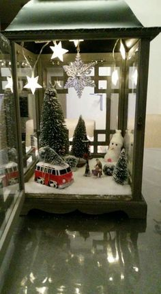 Simple and awesome diy christmas decorations and crafts 11 Christmas Scenes, Christmas Villages, Diy Christmas Tree, Rustic Christmas, Christmas Projects, Vintage Christmas, Christmas Holidays, Christmas Ornaments, Christmas Christmas
