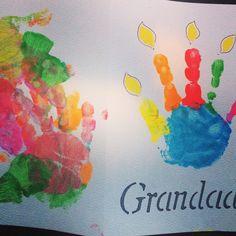Grandad birthday card, homemade, handprints