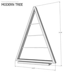 That's My Letter: DIY Modern Tree with Ornaments