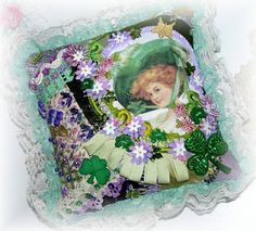 Irish Lady Pillow which is Art!