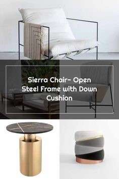 Modern Furniture, Furniture Design, Steel Frame, Cushions, Chair, Etsy, Throw Pillows, Toss Pillows, Pillows