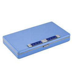 Art Deco Diamond Sapphire Gold Enamel Vanity Case ..... $12,900