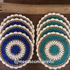 Crochet Potholder Patterns, Crochet Placemats, Crochet Coaster Pattern, Baby Knitting Patterns, Loom Knitting, Crochet Doilies, Crochet Diy, Crochet Home, Crochet Phone Cover