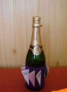 Diy And Crafts, Champagne, Projects To Try, Bottle, Drinks, Album, Birthday, How To Make, Gifts