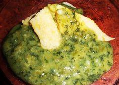 Ciulama de lobodă verde şi lapte de soia (de la 1 an) Thing 1, Guacamole, Mexican, Ethnic Recipes, Food, Green, Meals, Yemek, Eten