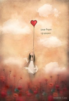 love from up above :) from my heart balloon collection of paintings inspired by love ,life, and freedom -acrylic on canvas / Copyright © Amanda cass. All rights reserved My images may not be reproduced in any form without my written permission. Art Amour, Art Fantaisiste, Heart Balloons, Angel Art, Heart Art, Whimsical Art, Love Art, Love Heart Drawing, Art Boards