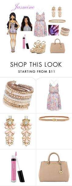 """Modern Disney Princesses:- Jasmine"" by nubiansuprise ❤ liked on Polyvore featuring Disney, ALDO, Forever New, H&M, Tory Burch, Bare Escentuals, MICHAEL Michael Kors, River Island and modern"