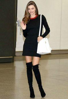 12/11 #ミランダ・カー #ニットワンピース #サイハイブーツ #サマンサタバサ の画像|海外セレブ最新画像・私服ファッション・着用ブランドまとめてチェック DailyCelebrityDiary*