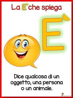 Italian Grammar, Italian Language, English Grammar, Learn To Speak Italian, Italian Lessons, Baby Corner, School Resources, Emoticon, Kids Learning