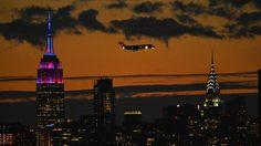 Das Empire State Building in New York erstrahlt in den Klubfarben des FC Barcelona.