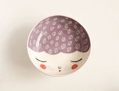 Ceramic serving bowl with character - purple serving bowl - ceramic face bowl - face plate - MADE TO ORDER on Etsy, $39.69 CAD