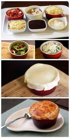 Pepperoni & Broccoli Pizza Pot Pie