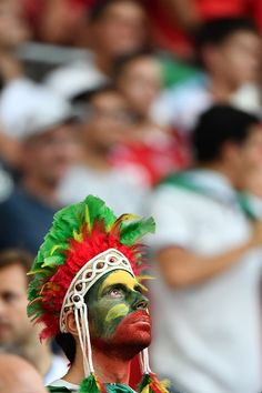 #EURO2016 A Portugal supporter supporter looks on prior to the Euro 2016 quarterfinal football match between Poland and Portugal at the Stade Velodrome in...