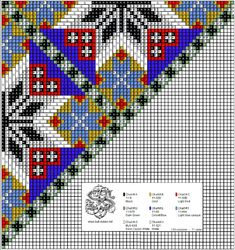 Perlesøm på stramei, bunad. – Vevstua Bull-Sveen Bead Loom Patterns, Cross Stitch Patterns, Loom Beading, Folk, Embroidery, Beads, Crochet, Crafts, Diy