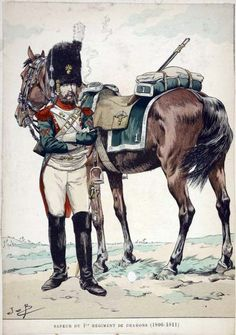 French; 1st Dragoons, Sapper 1806-11 by JOB