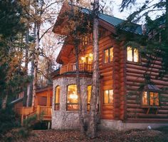 Handcrafted Full Scribe Log Home | By Caribou Creek Log Homes | Exterior | Flickr - Photo Sharing!