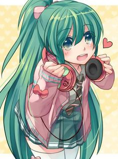Miku when she was little! Soooo cute awww