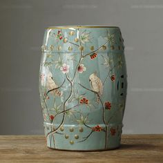 stool - http://zzkko.com/n201412-he-3.8-fold-spike-Special-/-Chinese-dressing-stool-Huanxie-the-stool-Side-/-gracefl-flower-and-bird-Jiangnan-hand-painted-ceram--drum-stool.html $33.23
