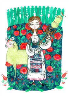 Plantus marina: same story different cultures romanian girls, traditional paintings, traditional art, Traditional Paintings, Traditional Art, Fantasy Boy, Ukrainian Art, Nature Drawing, Naive Art, Music Posters, Flower Art, Illustration Art