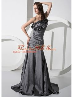 Mermaid Beading One Shoulder Taffeta Brush / Sweep Prom Dress  http://www.fashionos.com   | prom dress websites | floor length prom dress | sleeveless prom dress | prom dress with beading | prom dress with brush train | where to get prom dress | 2013 fashionable prom dress | mermaid prom dress | taffeta fabric prom dress |  Mermaid style is one that will show off your sexy figures.This prom dress is just the example.