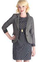 Modern Lit Lecturer Blazer in Grey | Mod Retro Vintage Jackets | ModCloth.com