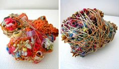 """Made from a variety of materials, including handspun yarn, vintage threads, lace, silk cocoons, vegetation, and """"flotsam"""", her intricate textile creations connote underwater sea creatures and, at times, amoebic life."""