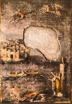 JOJO POST STAR GATES:  1.7.7). 40—79 A.D. Pompeii, The House of the Priest Amandus. Nobody knows why they cut the center of this important painting. Who are those flying people? WHAT IS THE MESSAGE THAT THEY LEFT HERE FOR THE FUTURE GENERATIONS ON PLANET EARTH. What do you see? What do you think? What do we know?  The Icarus. Fresco from Pompeii (the House of the Priest Amandus, I.7.7). 40—79 A.D. Pompeii, The House of the Priest Amandus.