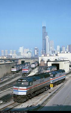 RailPictures.Net Photo: AMTK 388 Amtrak EMD F40PH at Chicago, Illinois by Bill…