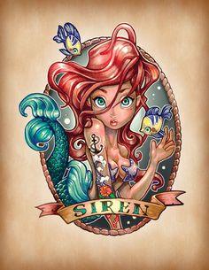 Ilustraciones princesas de Disney estilo Suicide Girls - Frogx Three