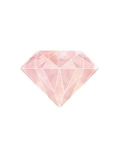 Poster mit rosa Diamanten.