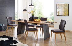 #Esstisch Kander aus Massivholz mit Stahlwangen | COMNATA Esstisch #wangentisch #esszimmer