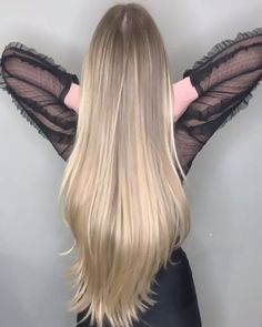 ❤️ , More hairstyles on our website. , for long hair, Classy Hairstyles, Braided Hairstyles, Hair Movie, Long Hair Video, Beautiful Long Hair, Blonde Balayage, Hair Videos, Hair Highlights, Dyed Hair