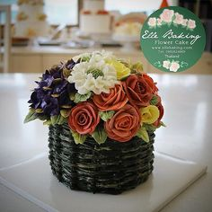 I like colors of this flower cake ,the basket color like real . T.Seung Do teach…