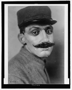 A French soldier whose face was disfigured during the war wears a flesh-colored, painted mask made by Anna Coleman Ladd of the American Red Cross. 1918. American Red Cross Collection, Library of Congress Prints and Photographs Division.