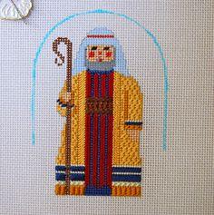 Diane's Taking Time Out To Needlepoint, dupree needlepoint nativity shepherd