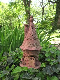 Blushing Jolly the Gnome Home by ClaySoul on Etsy, $112.00