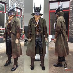 Anime/Video+Game:+Bloodborne  Character:+Hunter  Include:+Hat,+Scarf,+Shirt,+Vest,+Coat,+Belt,+Pants,+Gloves,+Boots,+Shin+Armour,+Gauntlet  Please+send+email+to+us+before+check+out.+we+will+give+you+a+list+and+picture+about+body+measurement.  email:zcscstudio@163.com+