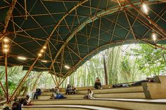 Gallery of Bamboo Amphitheater Space Structure / Bambutec Design - 1