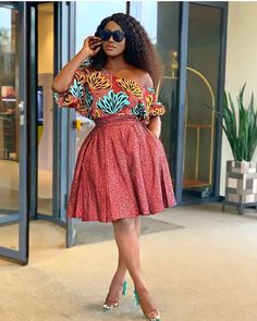 Cute African Print Dresses : Styles Ideas That Will Make You Look More BeautifulHello ladies. These are cute African print dresses inspiration that will leave Short African Dresses, Latest African Fashion Dresses, African Print Dresses, African Print Fashion, Africa Fashion, Ankara Fashion, African Prints, African Fabric, African Dress Styles