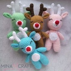 2019 Best Lovely Amigurumi Free Crochet Patterns Toy Models - Amigurumi Free Patterns and Amigurumi Tutorials Christmas Crochet Patterns, Crochet Toys Patterns, Amigurumi Patterns, Crochet Dolls, Doll Patterns, Crochet Deer, Crochet Cactus, Free Crochet, Noel Christmas