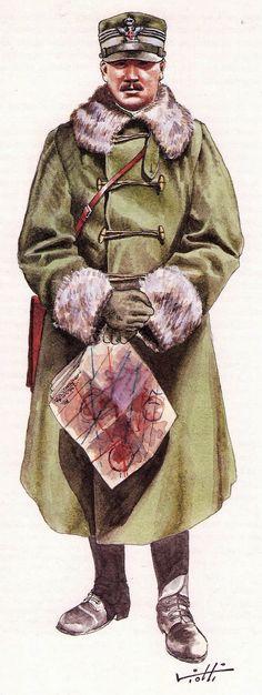 Regio Esercito WW1 -    Generale in tenuta invernale - pin by Paolo Marzioli